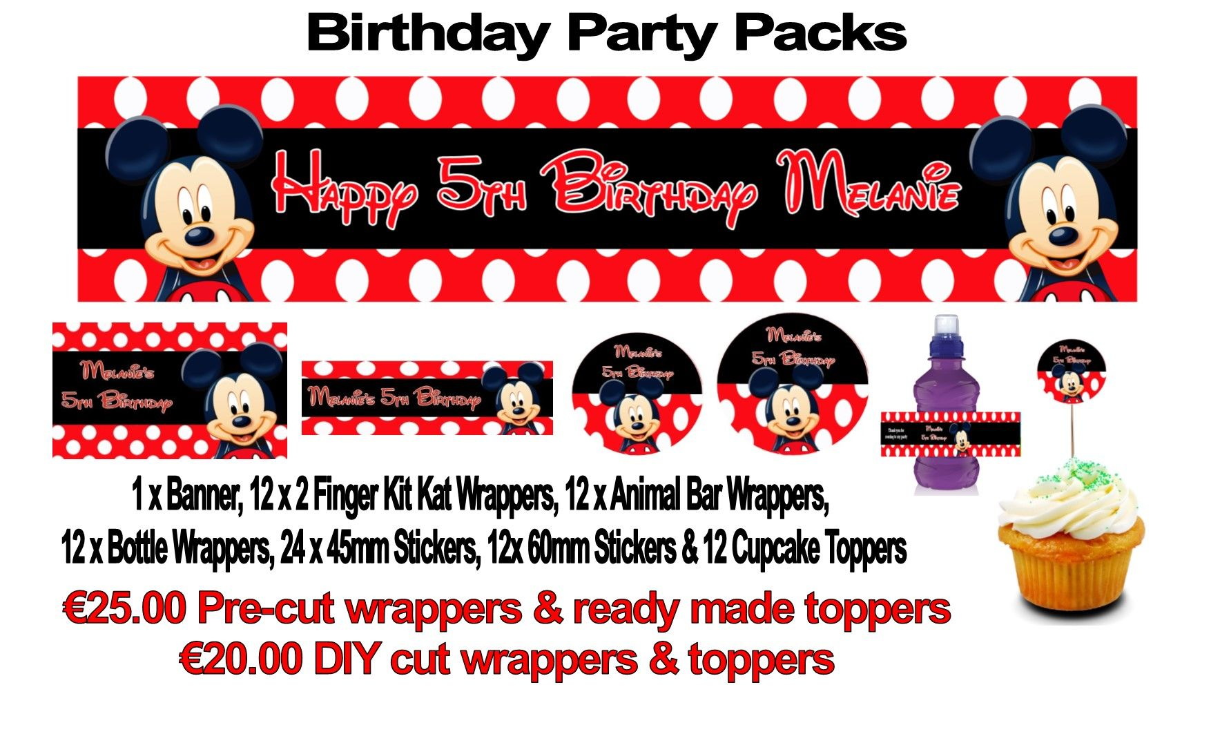 Birthday Party Pack Various Designs