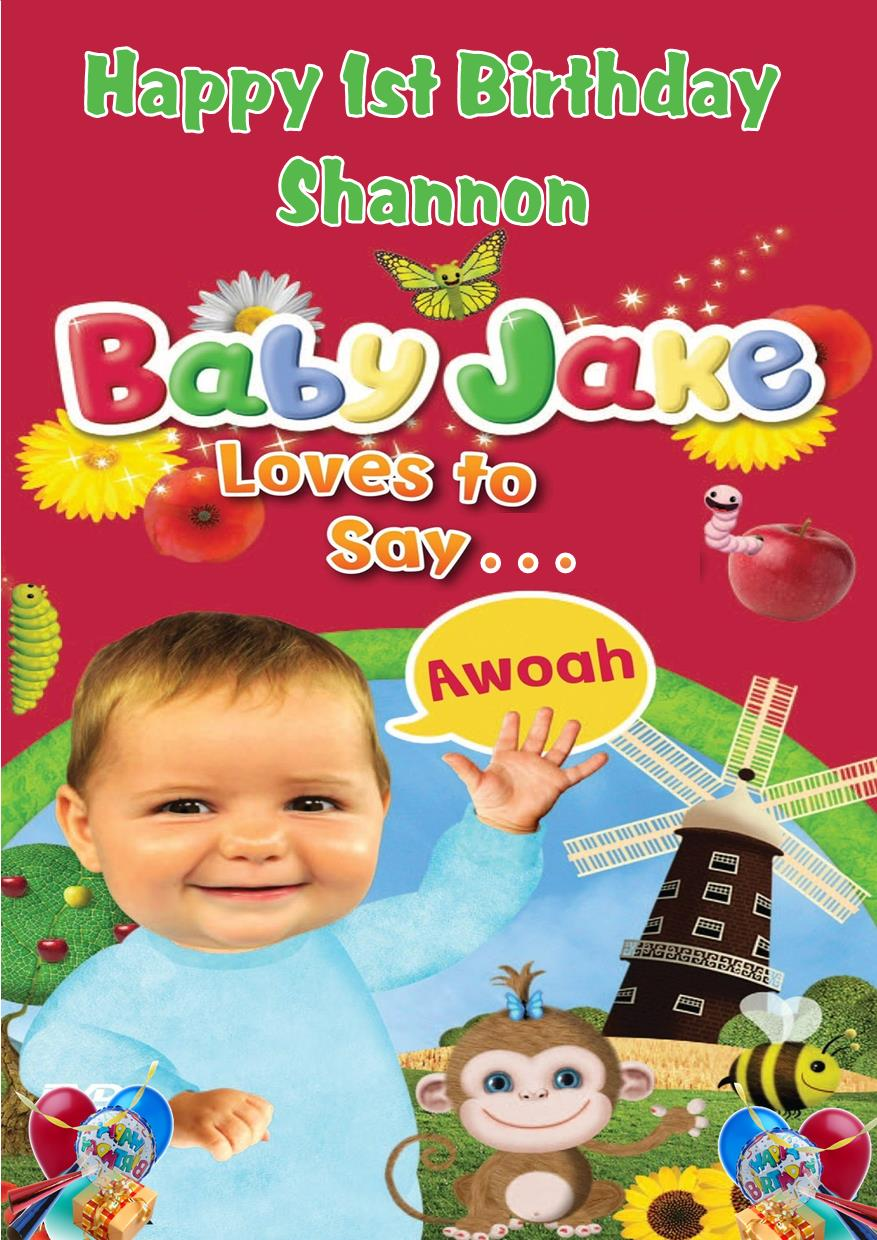 Personalised Baby Jake Birthday Card