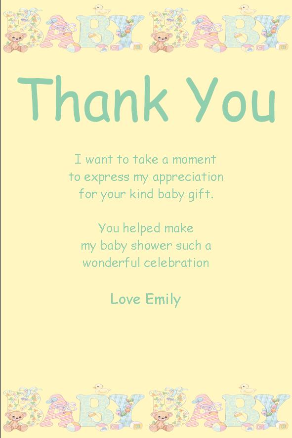 photos 17 baby shower thank you cards baby shower thank you poems