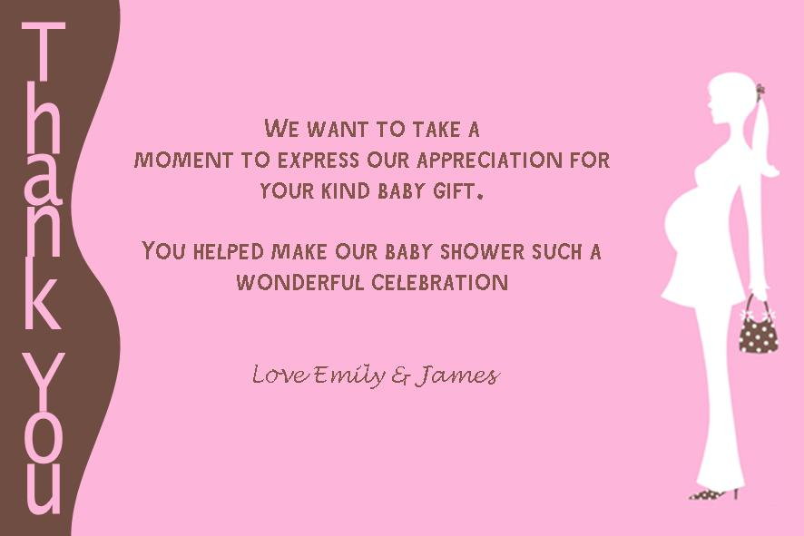 personalised baby shower thank you card design 3