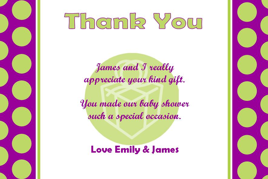 personalised baby shower thank you card design, Baby shower invitation