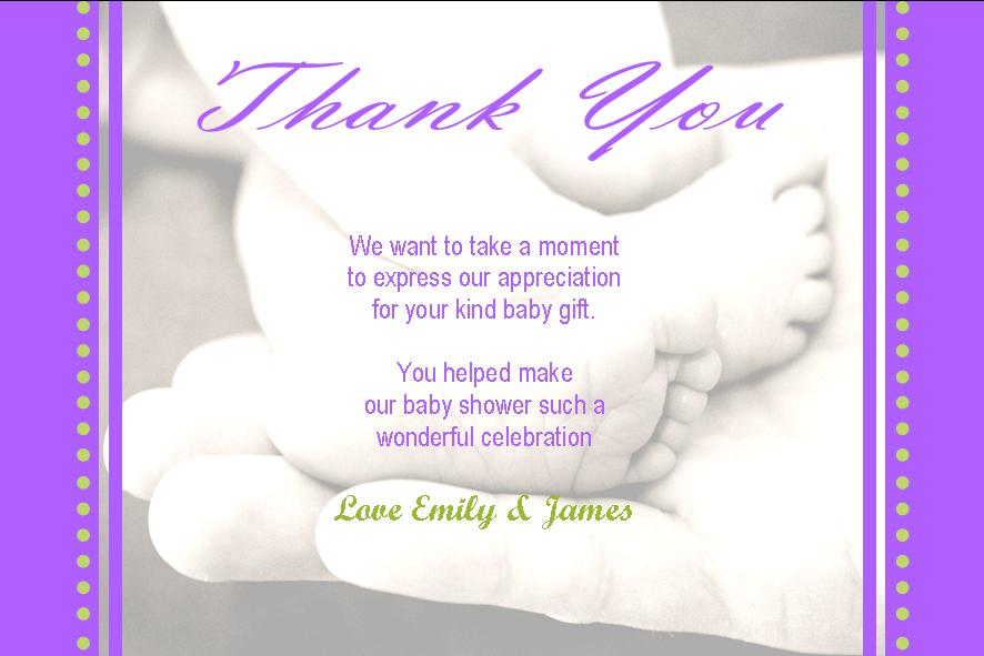 Baby Gift Thank You Note Etamemibawa