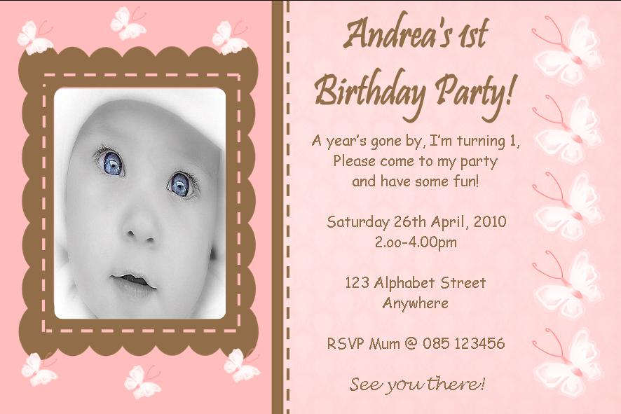 Printed birthday invitations ukrandiffusion personalised birthday photo invitations girl design 5 filmwisefo