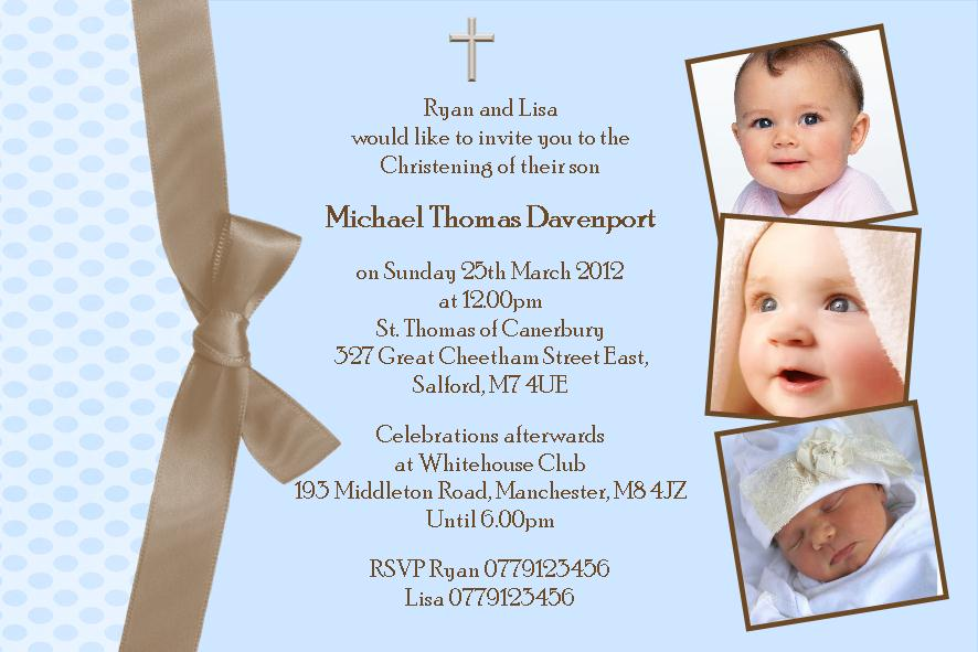 Personalised boy photo christening invitations design 4 stopboris Gallery
