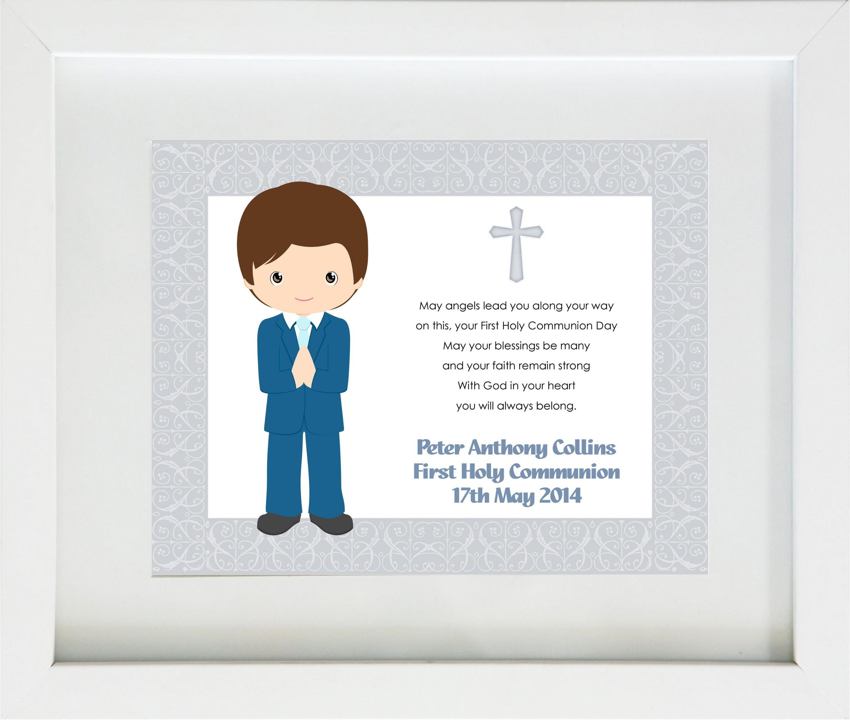 Personalised Boys First Holy Communion Print