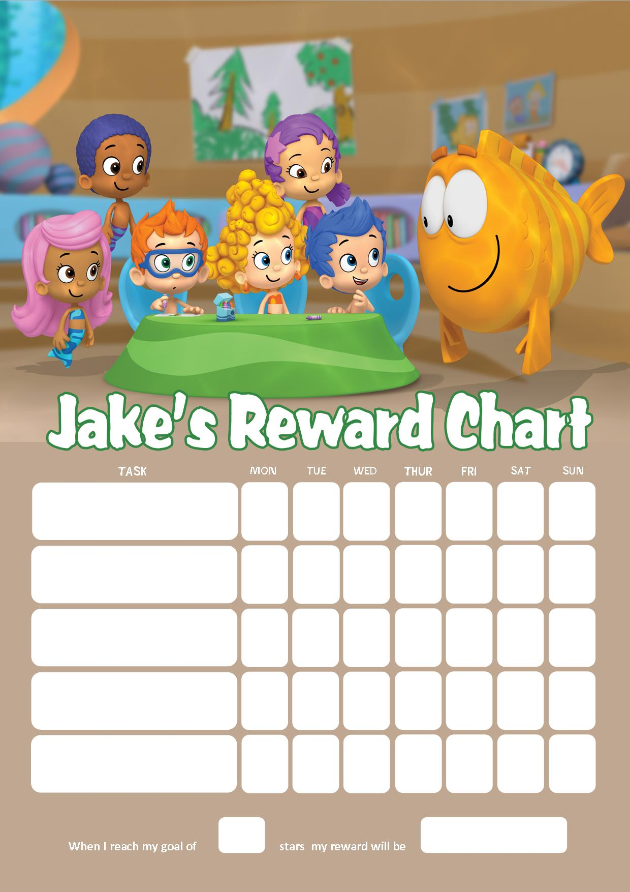personalised bubble guppies reward chart adding photo option available personalised bubble guppies reward chart adding photo option available
