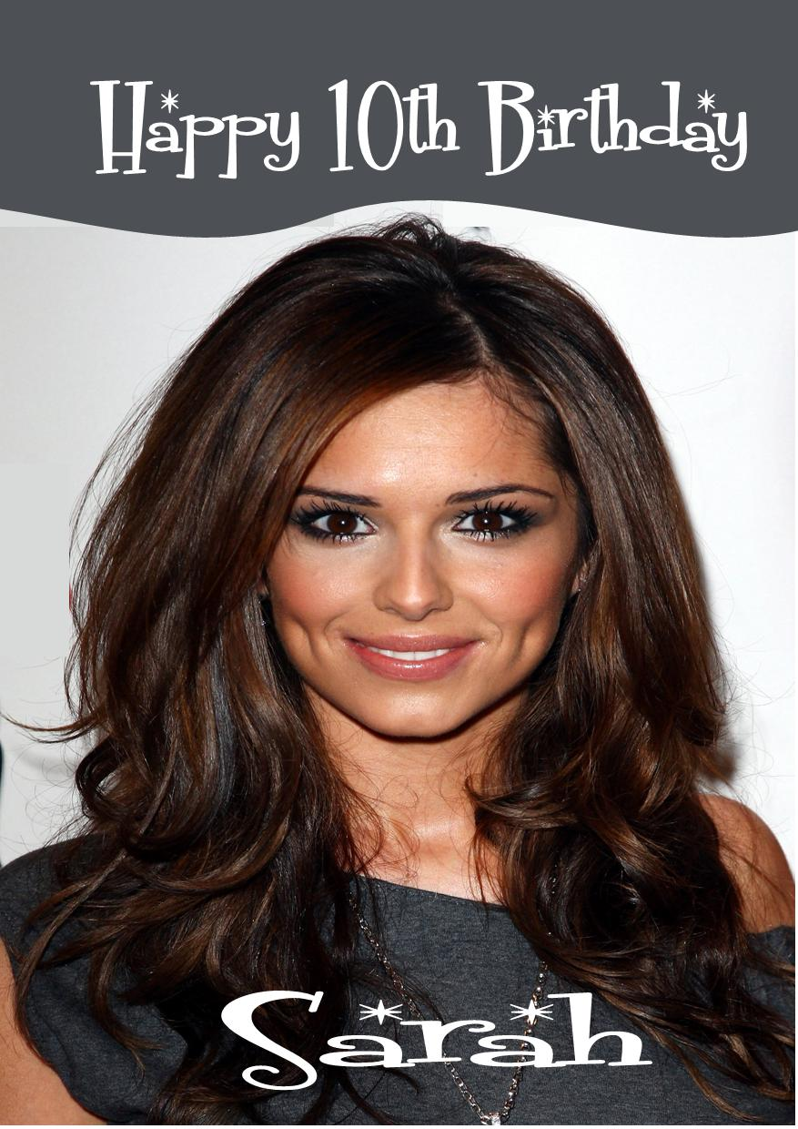 Personalised Cheryl Cole Birthday Card – Cheryl Cole Birthday Card