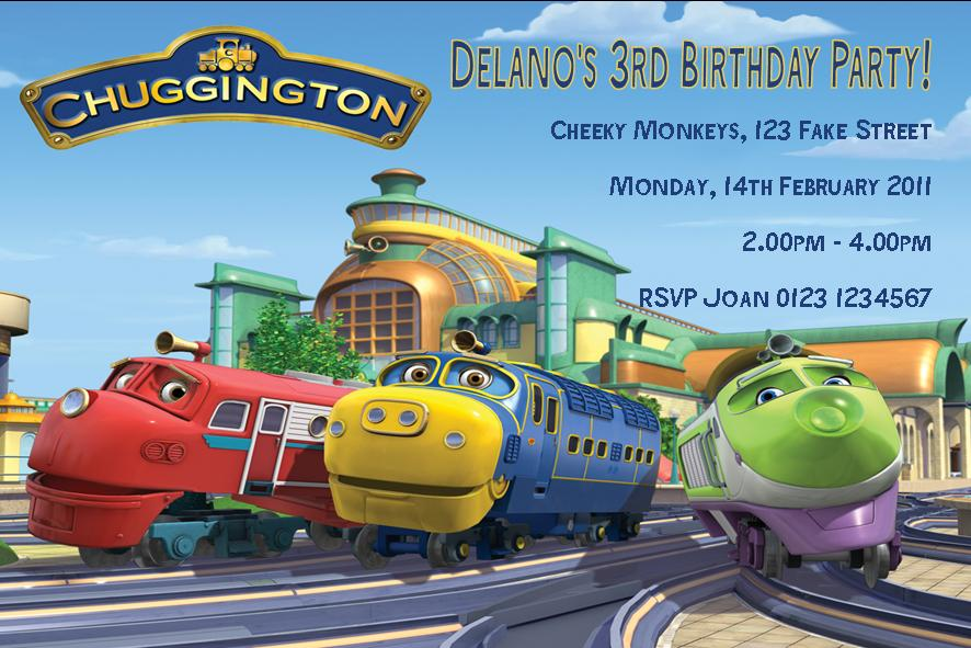 Personalised Chugginton Invitations