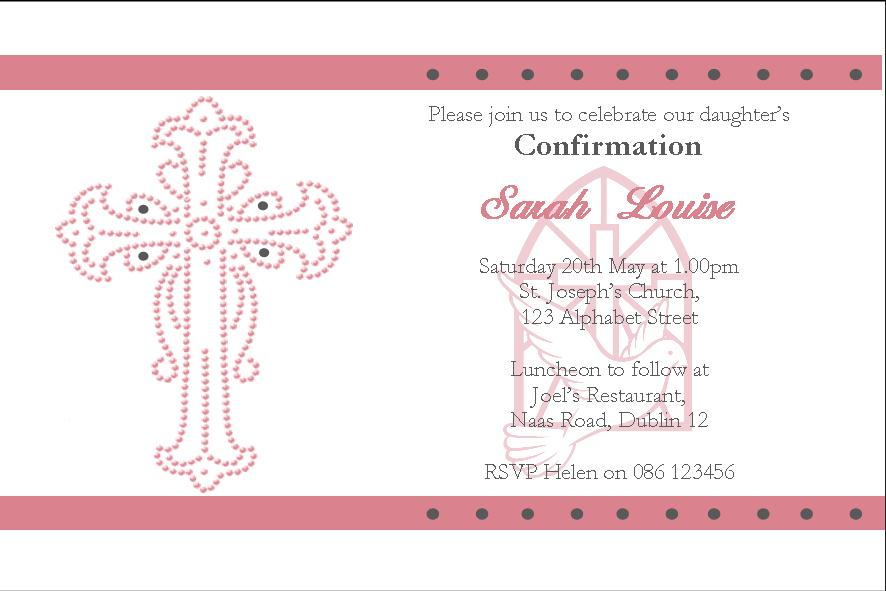 Confirmation invitation confirmation invites baptism for Free printable confirmation invitations template