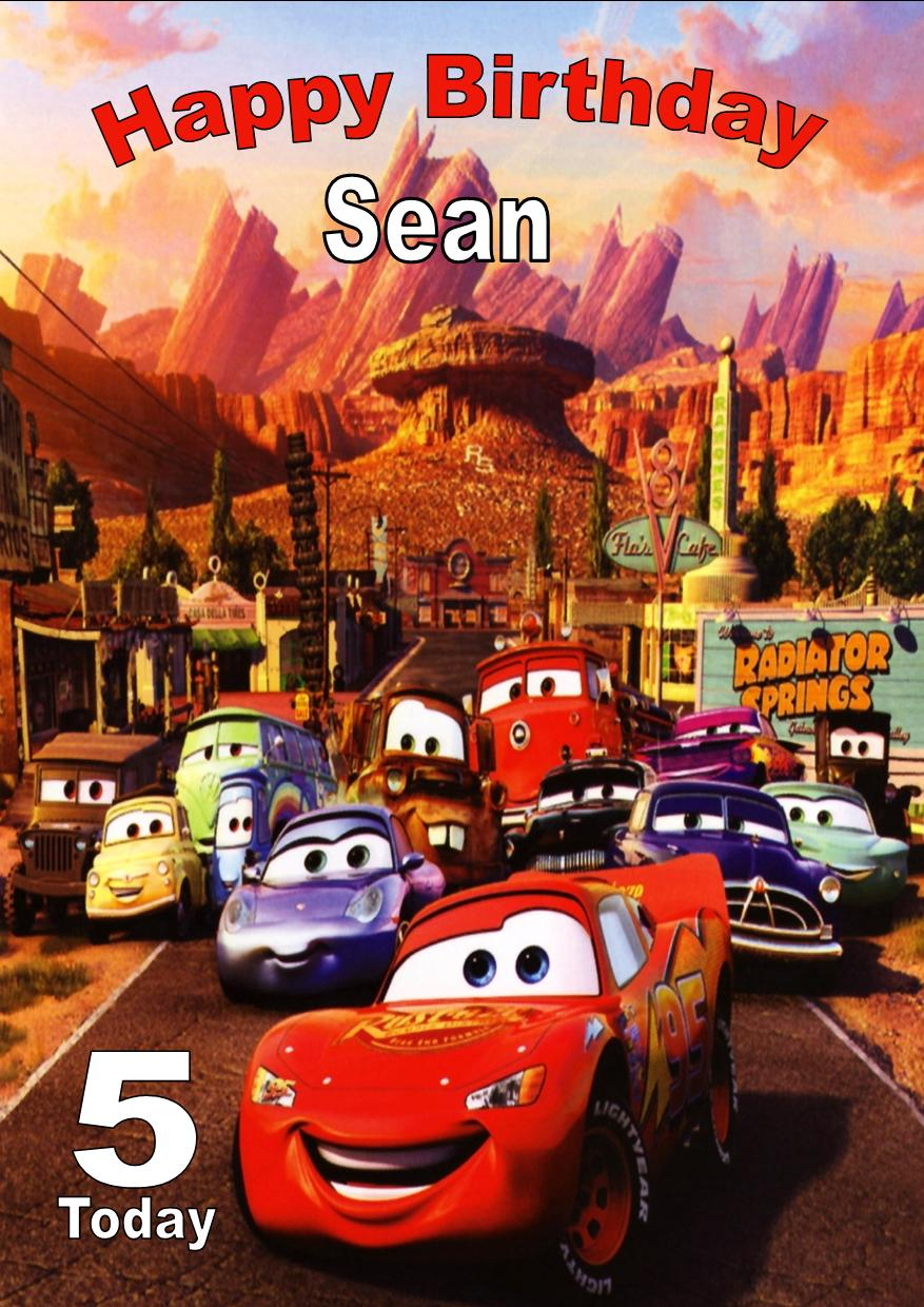 Personalised Disney Cars Birthday Card – Disney Cars Birthday Cards