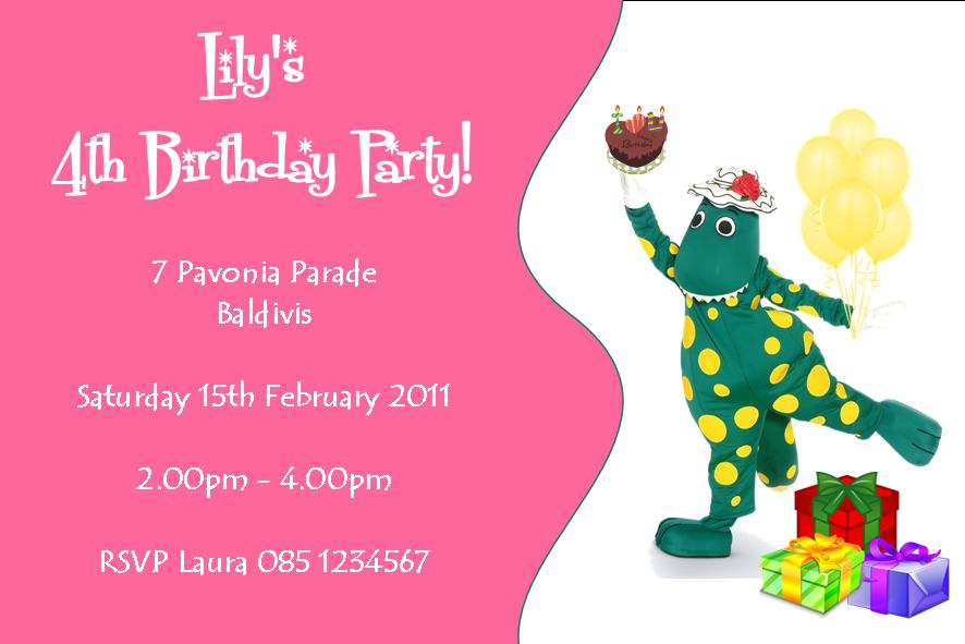 Personalised Dorothy the Dinosaur Invitations Design 2