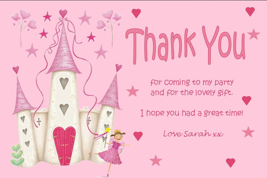 Personalised fairy theme thank you cards bookmarktalkfo