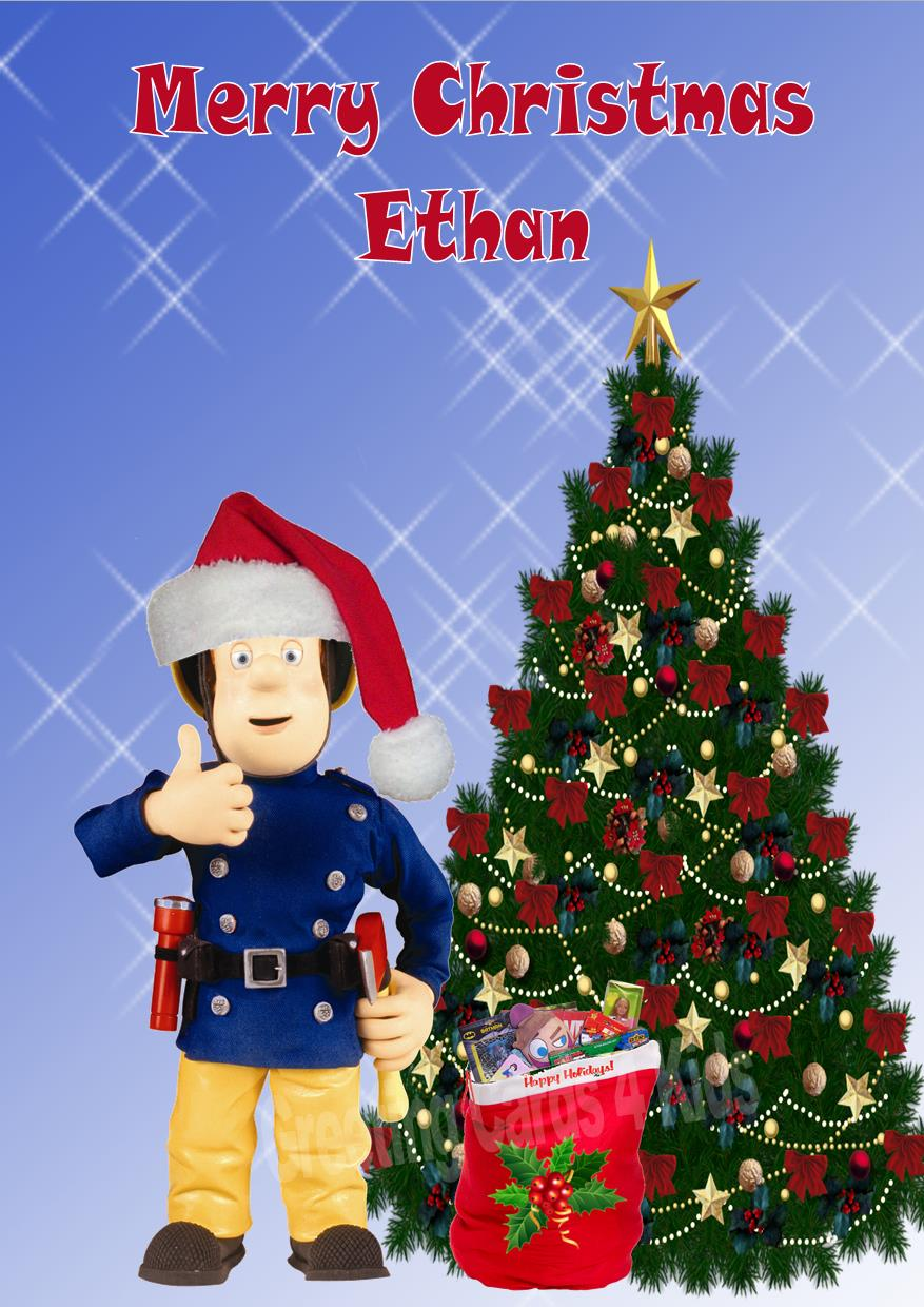 Personalised Fireman Sam Christmas Card 2 – Fireman Sam Birthday Cards