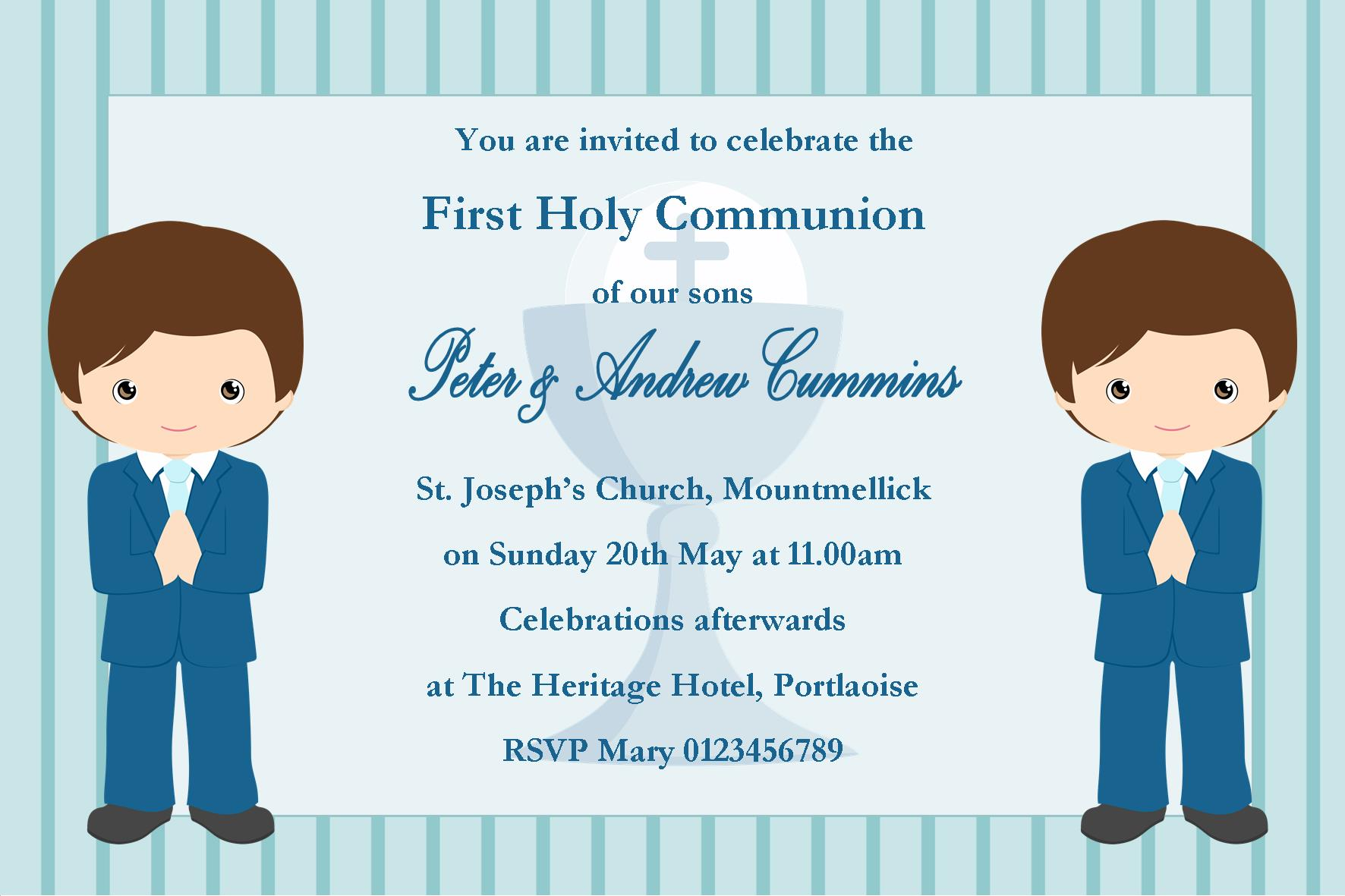 first communion invitations for boys | Wedding invitation cards