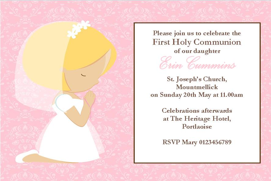 Irish First Communion Invitations for amazing invitation sample