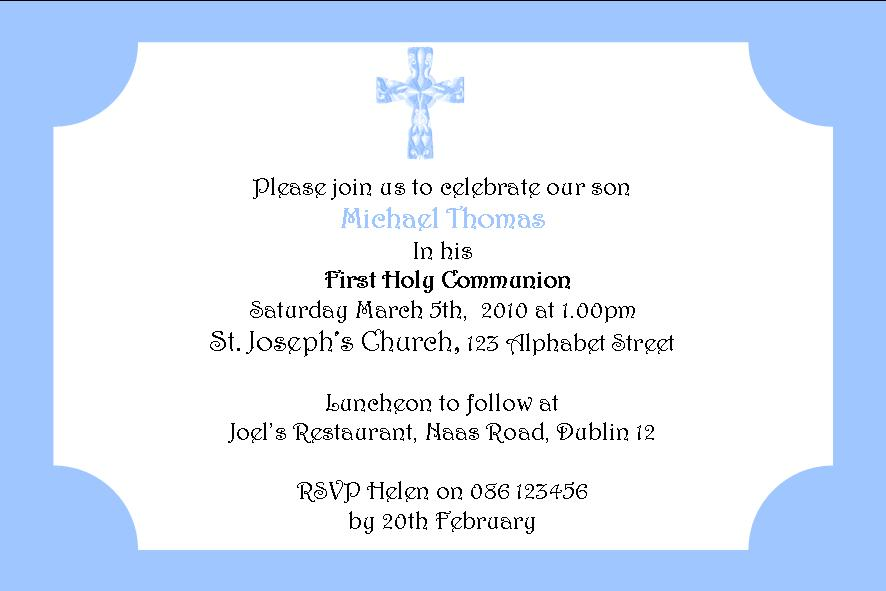 First communion invitations wording ideas sayings bible quotes and