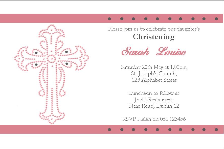 Personalised Girl Christening Invitations Design 7