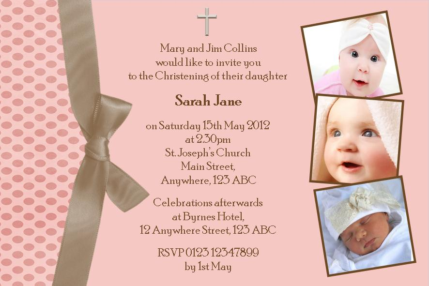 Baptismal Invitation Message is good invitations template