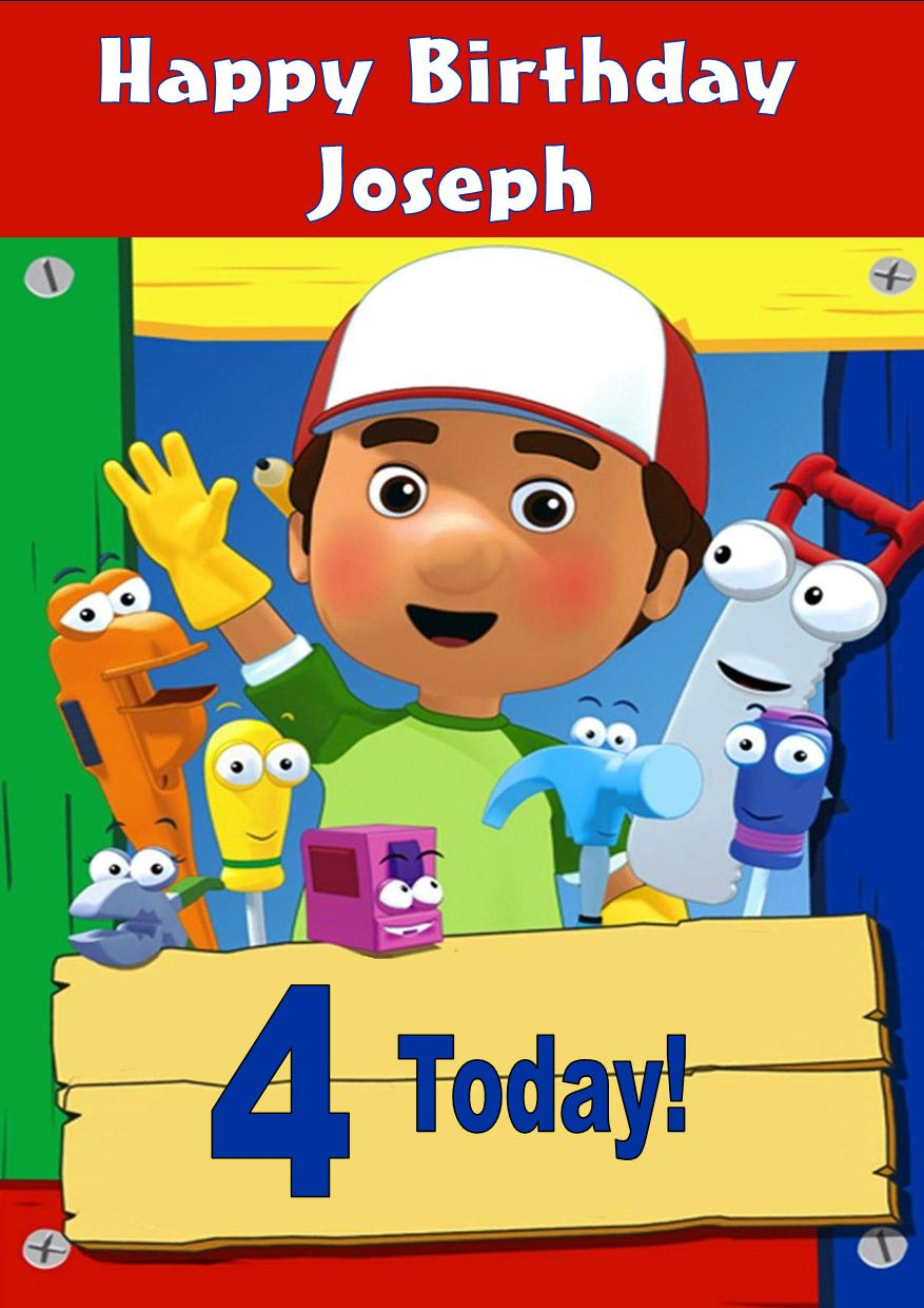 Personalised Handy Manny Birthday Card – Handy Manny Party Invitations