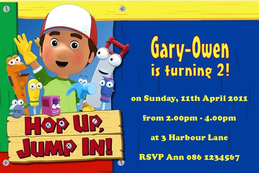 Personalised Handy Manny Invitations – Handy Manny Party Invitations