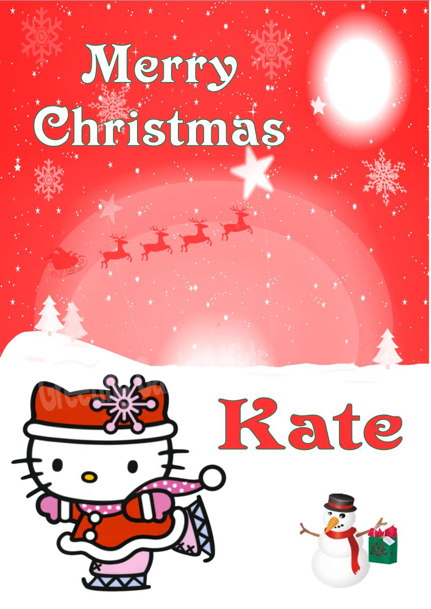 Hello Kitty Christmas Cards Print Bigking Keywords And Pictures