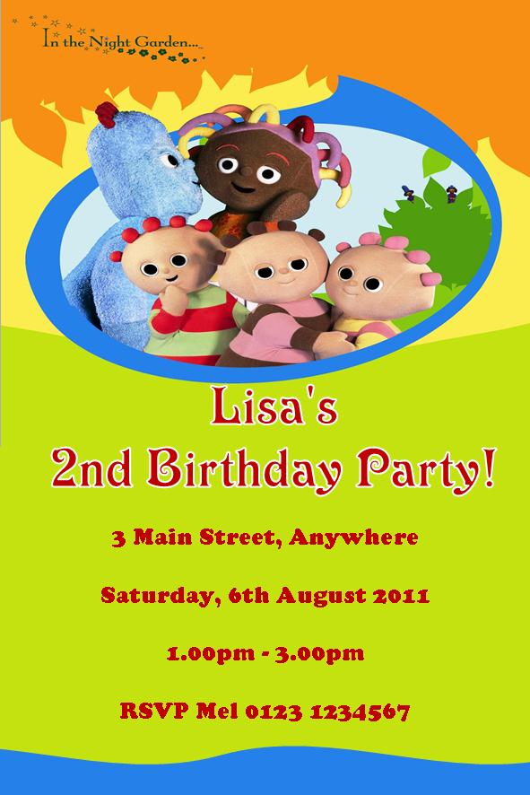Personalised In the Night Garden Invitations – In the Night Garden Birthday Invitations