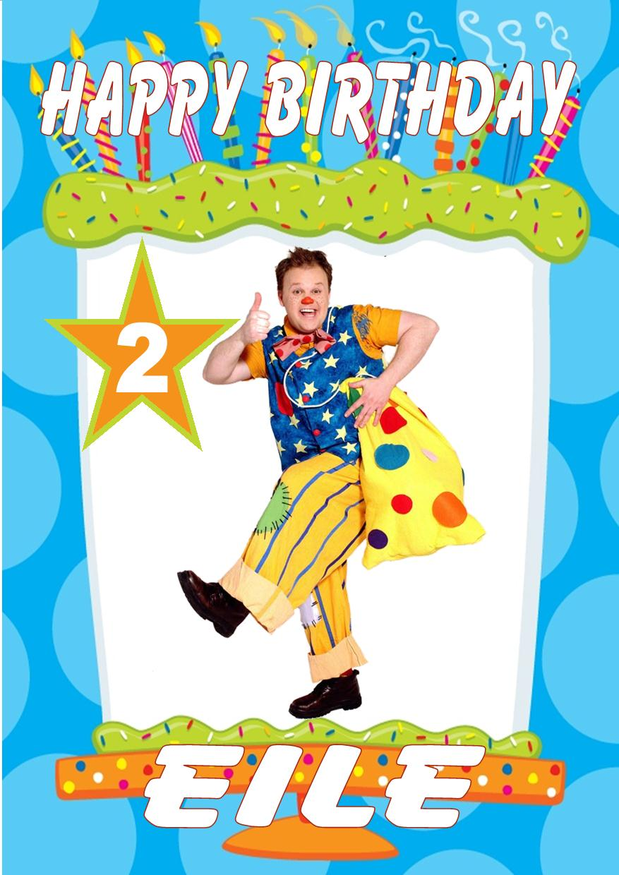 Personalised Mr Tumble Birthday Card – Mr Tumble Birthday Card