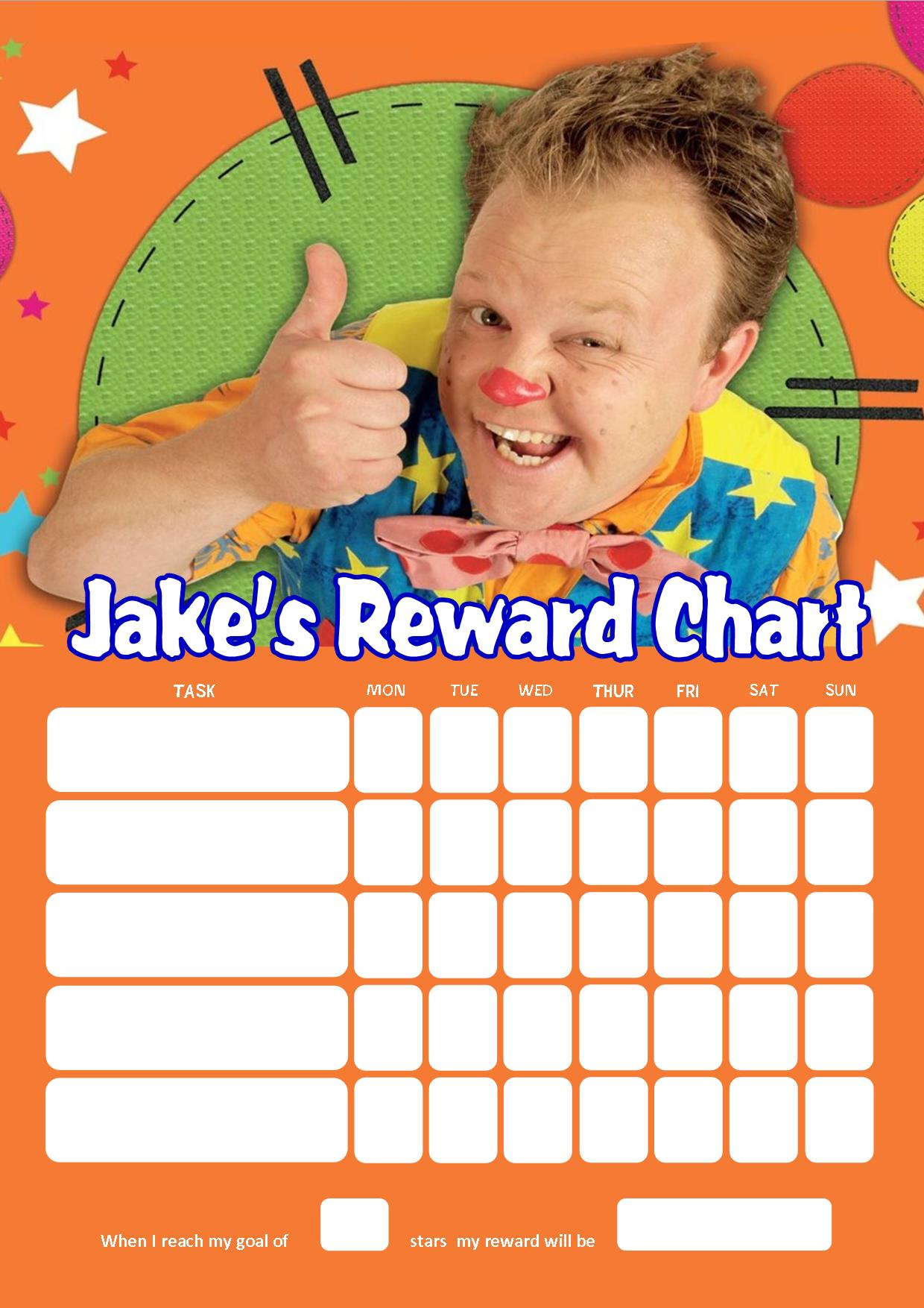 Personalised Mr Tumble Reward Chart adding photo option available – Mr Tumble Birthday Card