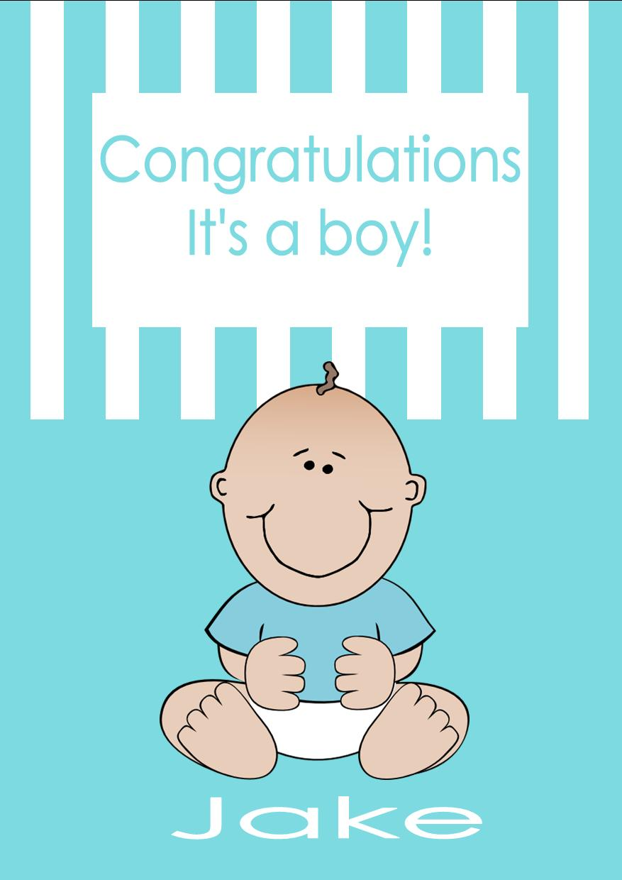 personalised new baby boy card design 2 - New Born Baby Card