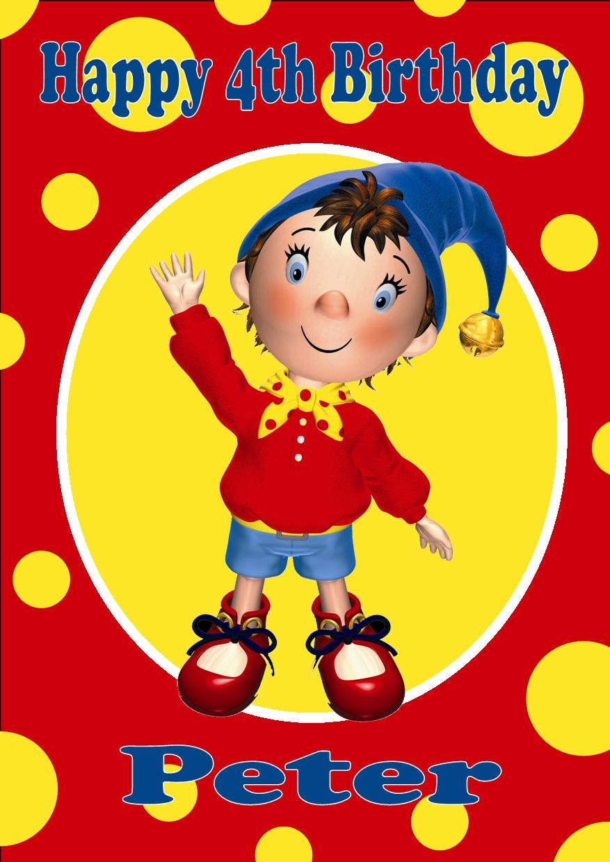 Personalised Noddy Birthday Card – Birthday Card for Child