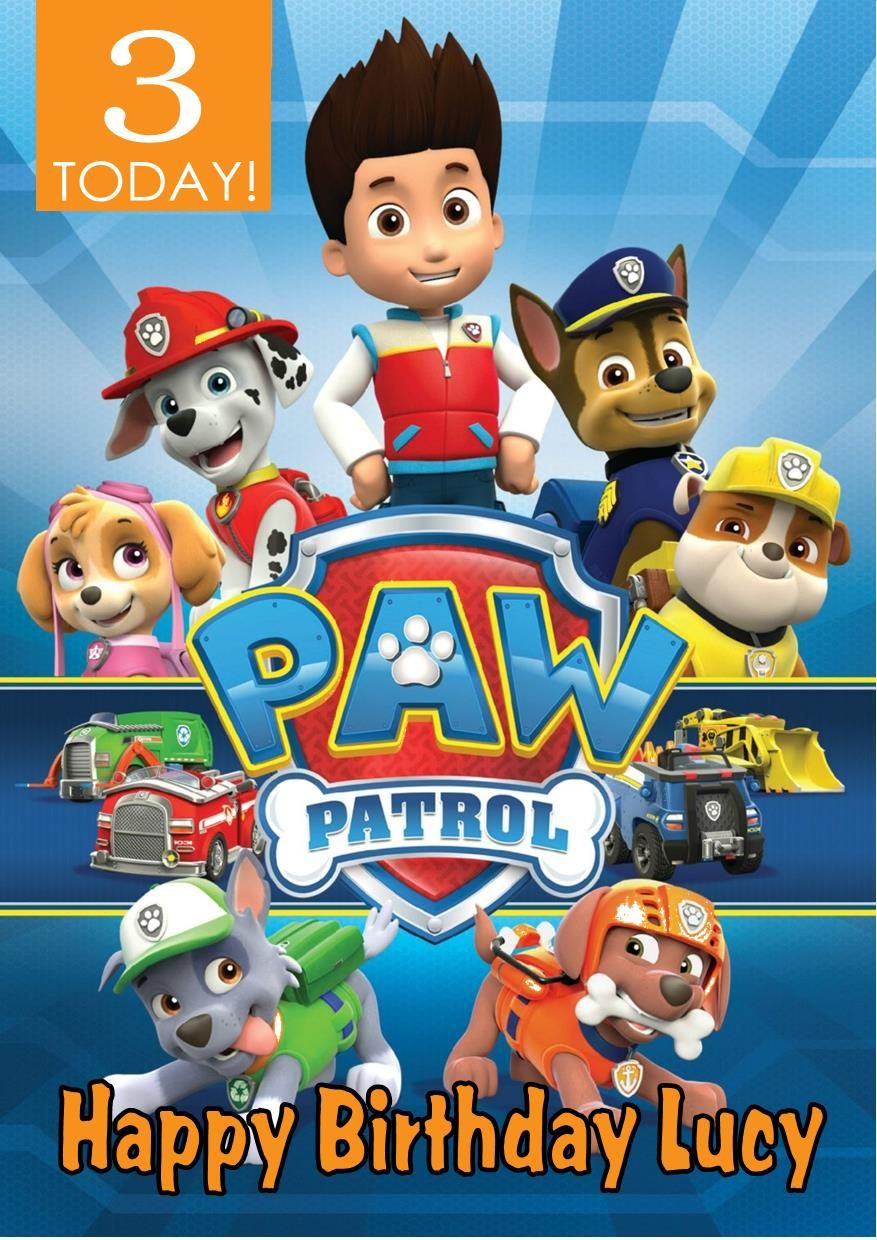 It's just a graphic of Légend Paw Patrol Printable Birthday Card