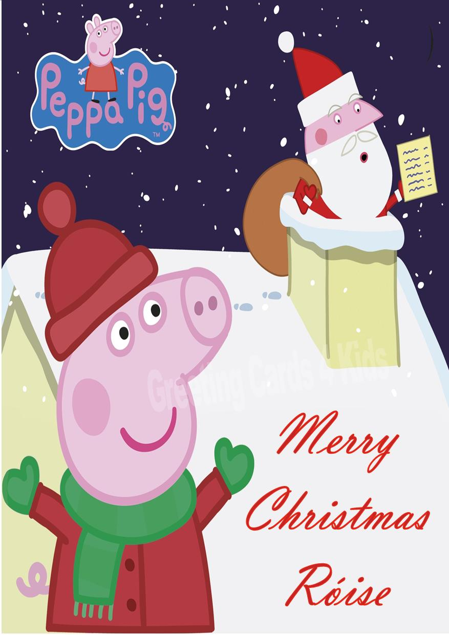 Personalised Peppa Pig Christmas Card 2
