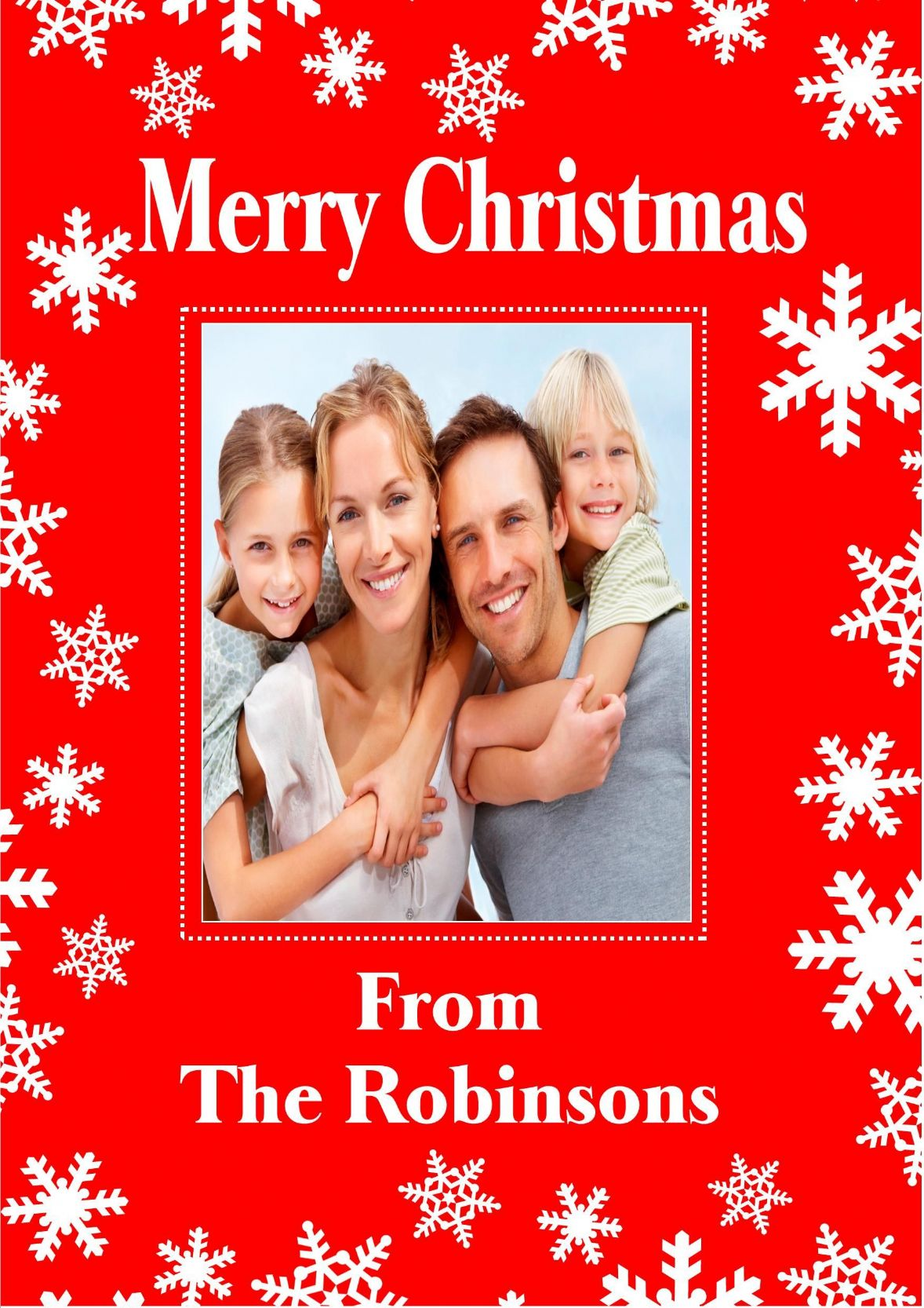 Personalised Photo Christmas Card Design 2
