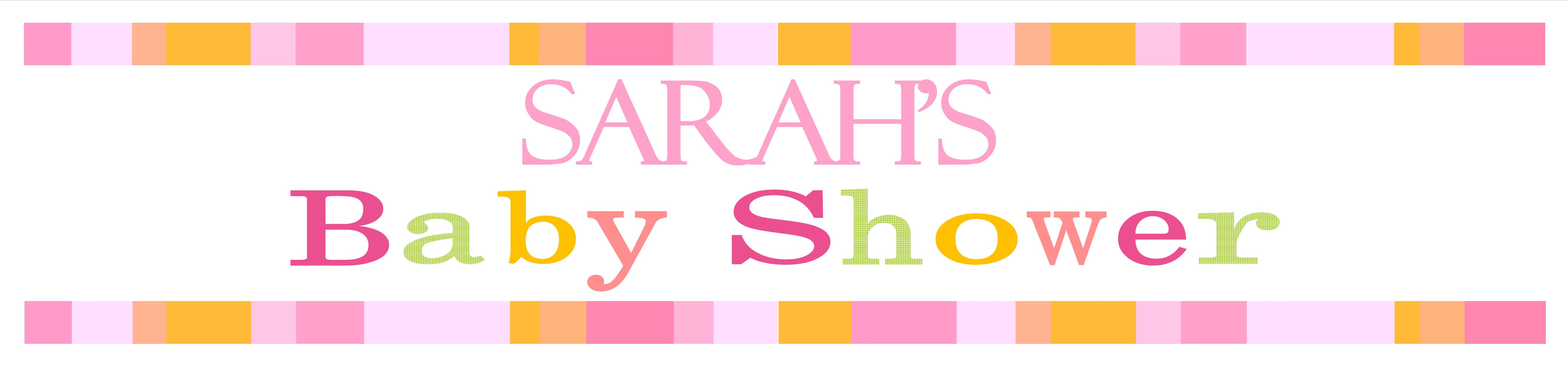 Personalised pink baby shower banner design 3 Baby shower banners