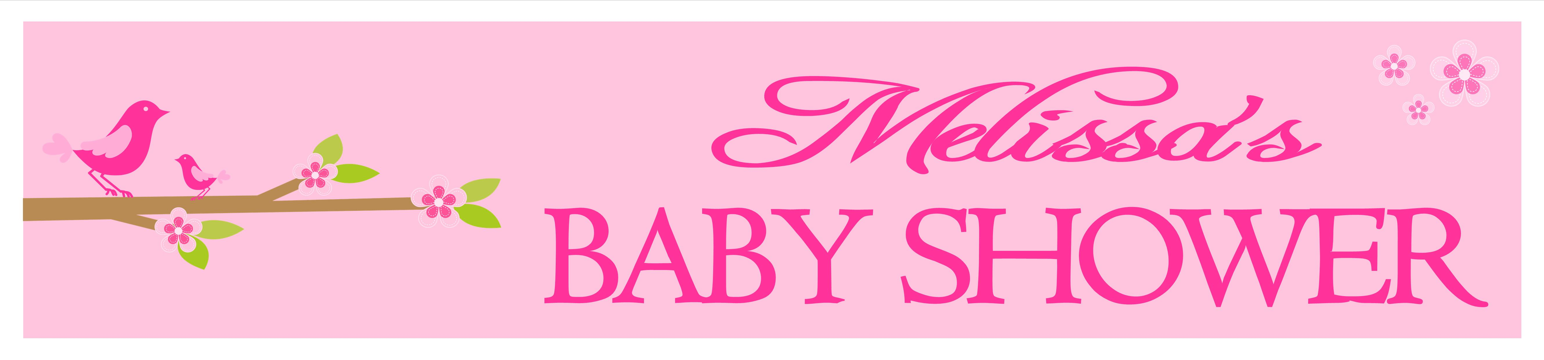 Personalised pink baby shower banner design 6 Baby shower banners