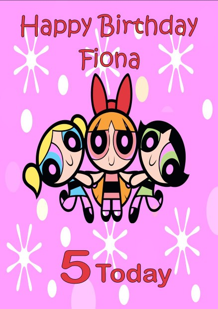 Personalised Powerpuff Girls Birthday Card – Birthday Cards Girls