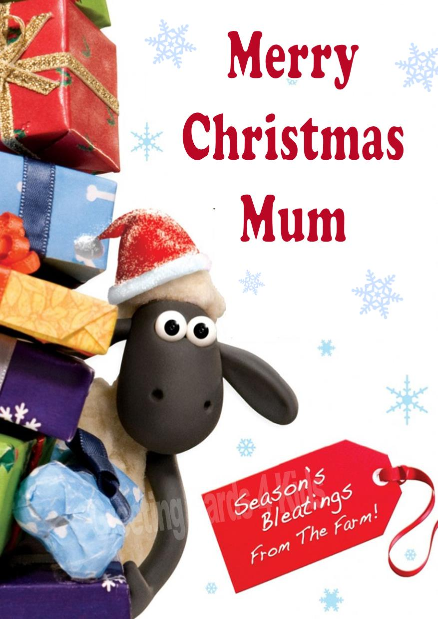 Personalised Shaun the Sheep Christmas Card – Shaun the Sheep Birthday Card