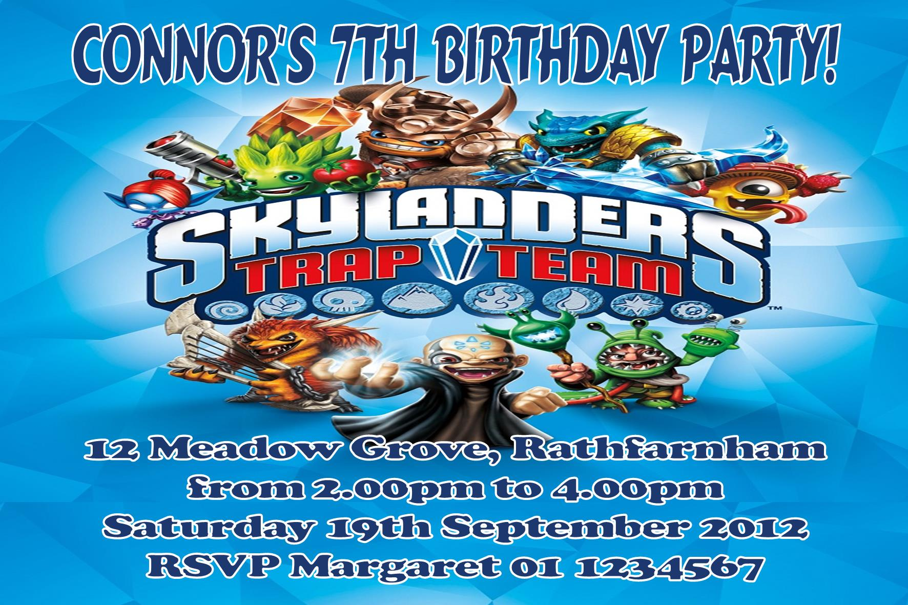 Skylander Birthday Invitations are Great Style To Create Fresh Invitations Design