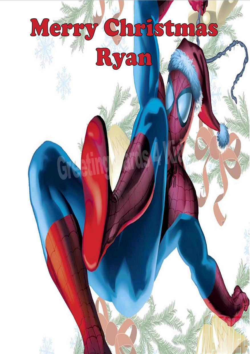 Personalised Spider-man Christmas Card