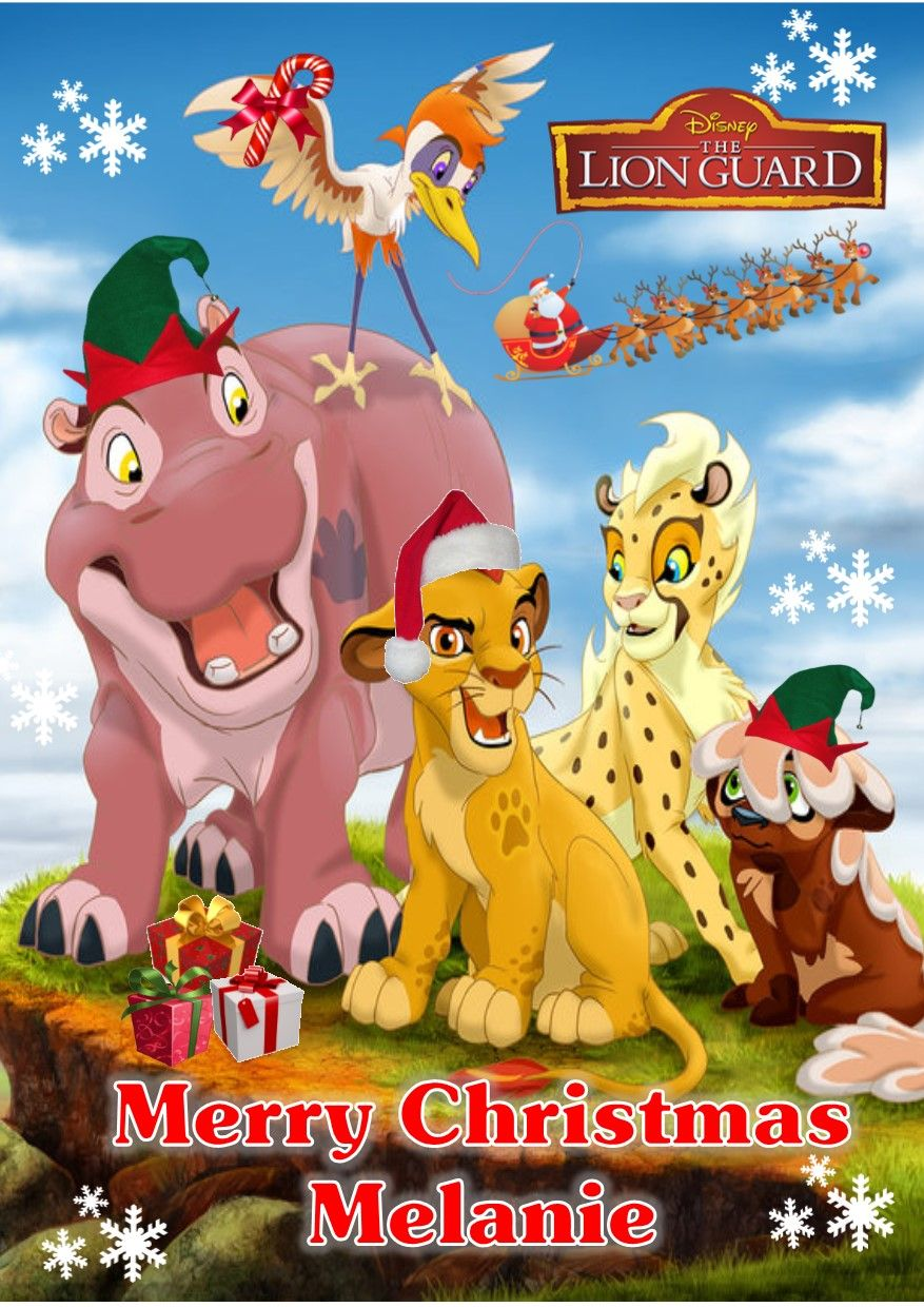Personalised The Lion Guard Christmas Card