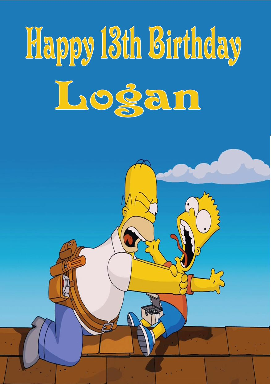personalised the simpsons birthday card, Birthday card