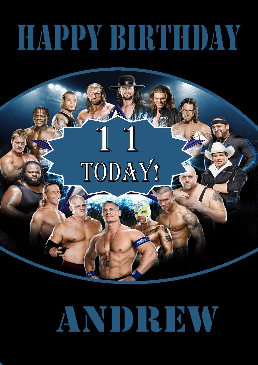 personalised wwe wrestlemania birthday card, Birthday card