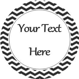 Any Occasion Your Text Stickers Black Chevron