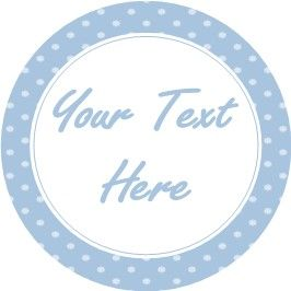 Any Occasion Your Text Stickers Blue Spots