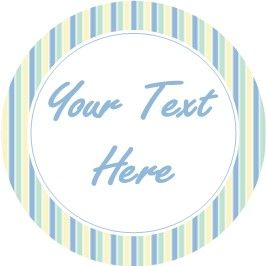 Any Occasion Your Text Stickers Blue Stripes