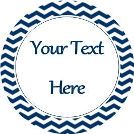Any Occasion Your Text Stickers Dark Blue Chevron