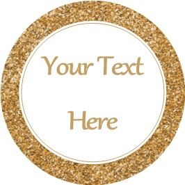 Any Occasion Your Text Stickers Gold Sparkle