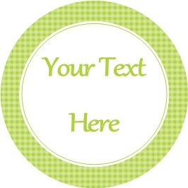 Any Occasion Your Text Stickers Green Gingham