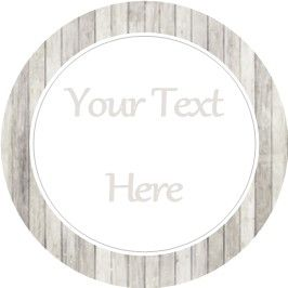 Any Occasion Your Text Stickers Grey Wood