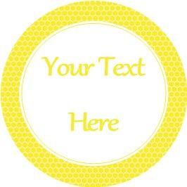 Any Occasion Your Text Stickers Honeycomb Small